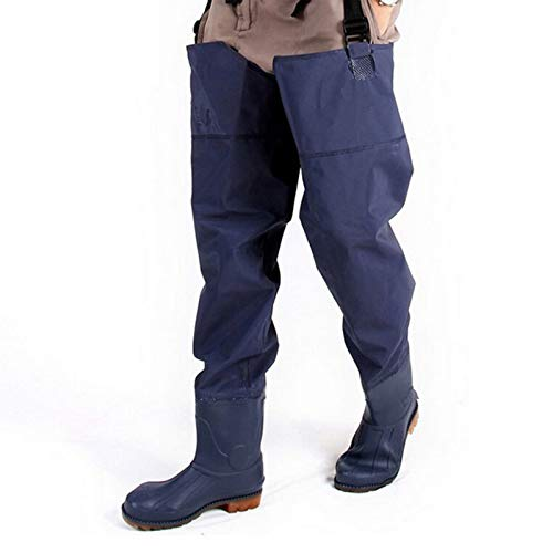 CONSUNDYTT Botas de Pesca Impermeables sobre la Rodilla Botas de vadeo para Agricultura Pantalones de Granjero Botas PVC Zapatos de Pesca con Mosca de río para Exteriores,43