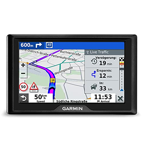 "Garmin Drive 52 MT EU – Navigationsgerät mit 5"" (12,7 cm) Farbdisplay, vorinstallierten Europakarten (46 Länder), Premium Traffic (TMCpro) via RDS & Smartphone Link App, Fahrerassistenz, TripAdvisor"