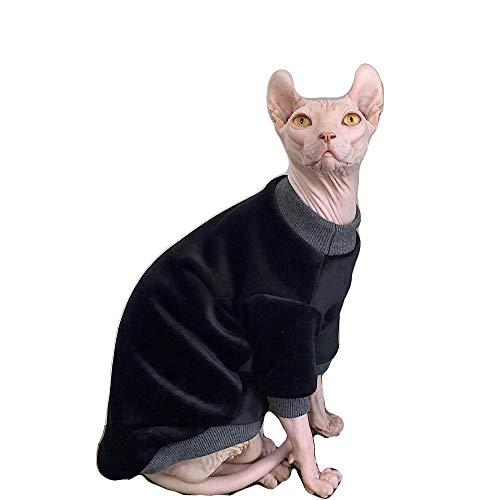 NIELIT Sphynx Ropa para Gatos Abrigo de Piel de Zorro Plateado para...