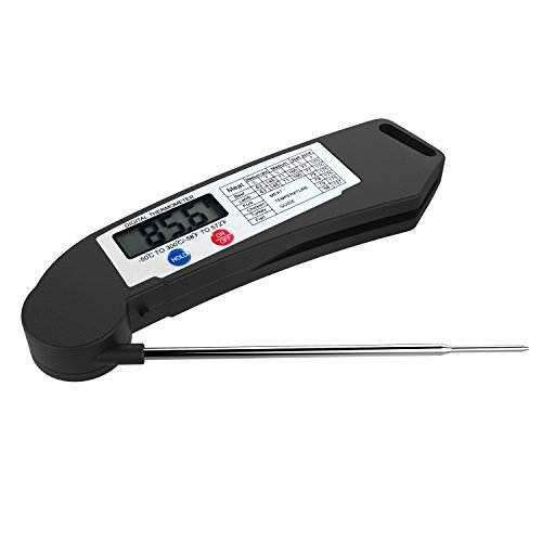 TURATA Meat Instant Read Waterproof Thermometer Super Accurate Thermometer for Kitchen Cooking BBQ Christmas Turkey Candy Cake Milk BBQ Grill