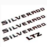 Yoaoo 3x OEM Silverado Nameplate Plus Ltz Letter Emblems 3D Badge 1500 2500Hd 3500Hd Original Silverado Series Red Line Redline