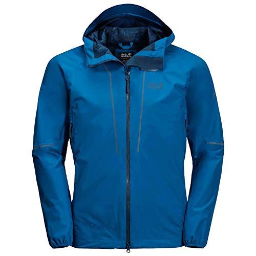 Jack Wolfskin Sierra Trail Jacke Chaqueta rígida para Hombre, Azul eléctrico, Small