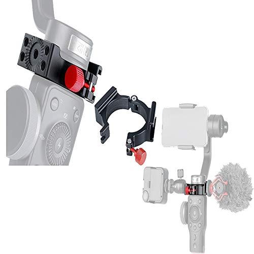 4 Ring V2 Koude Schoen 1/4 Adapterringklem met Koude Schoen compatibel voor Zhiyun Smooth 4 Toegepast op Rode Microfoon LED Licht, Anti-Kras Videolamp Filmmaker Monitor Vloggen