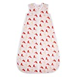 aden + anais Classic Sleeping Bag, 100% Cotton Muslin, Wearable Baby Swaddle Blanket, Large, 12-18 Months, Poppies