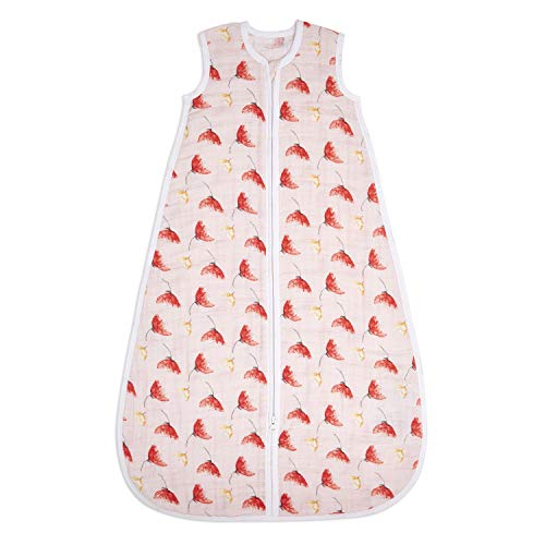aden + anais Classic Sleeping Bag, 100% Cotton Muslin, Wearable Baby Swaddle Blanket, Large, 12-18...