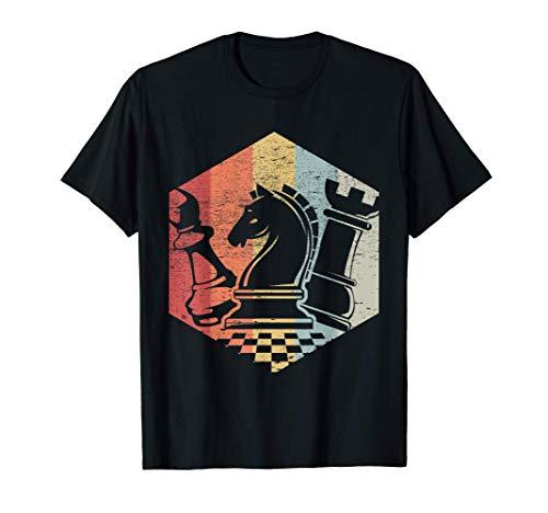 Vintage Ajedrez Regalo Retro Chessmen Jugador De Ajedrez Camiseta