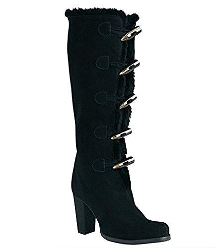 Stiefel von Apart aus Veloursleder in Schwarz Gr. 36