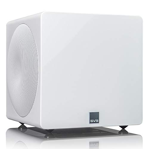 SVS 3000 Micro Subwoofer (Piano Gloss White) | Active Dual 8-in Drivers,...