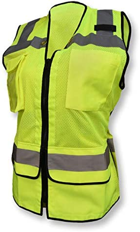 Ladies Heavy Duty Surveyor Safety Vest