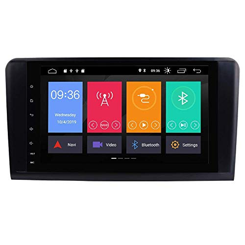 Android 9.0 Radio de coche para Mercedes-Benz GL ML CLASE W164 X164 ML350 ML450 ML500 GL320 GL450 con 9 pulgadas HD Pantalla multitáctil Soporte GPS WiFi Bluetooth Canbus GPS Completo RCA OBD DAB +