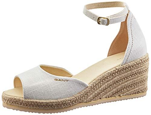 GANT Footwear Damen Wedgeville Riemchensandalen, Weiß (Off White G20), 38 EU