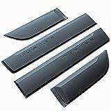 PhilTrade Lot de 4caches latéraux d'origine, baguettes de protection pour portes, noir