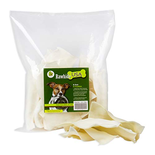 Natural Rawhide Chips Dogs Free-Form Beef Chews From Limitless Treats USA