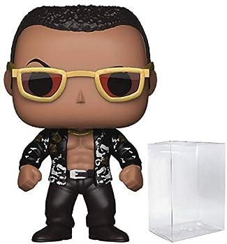 Funko Pop! WWE The Rock Old School Vinyl Figure  Bundled with Pop BOX PROTECTOR CASE