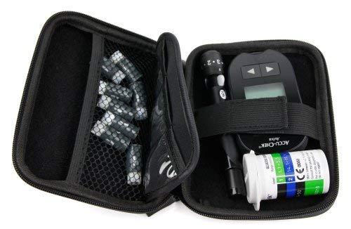DURAGADGET Estuche Rígido para El Kit De Control De Insulina Y Colesterol Transportar con Mini Mosquetón