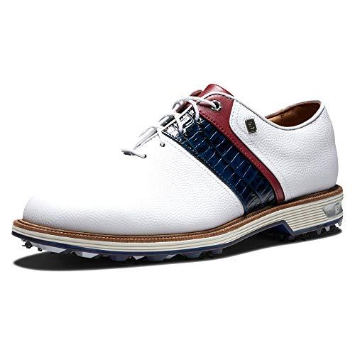 FootJoy Men's Premiere Series-Packard Golf Shoe, White/Navy/Red, 14