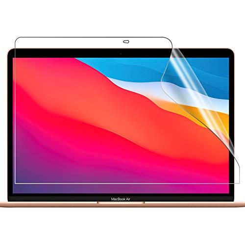 【2020秋冬 M1チップモデル/2枚入り】TOWOOZ Macbook Pro/Macbook Air フィルム 13 インチ PET製 超薄 耐衝撃 反射低減 目に優しい Macbook Pro/Macbook Air フィルム M1チップモデル 99%高透過率 高光沢 指紋対策