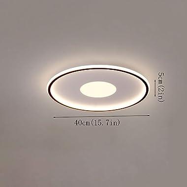 FANGXMF Europe du Nord CCT Plafonnier sélectionnable LED Simplicité Lampes de Chambre Modernes Forme Ronde Créativité Plafonn