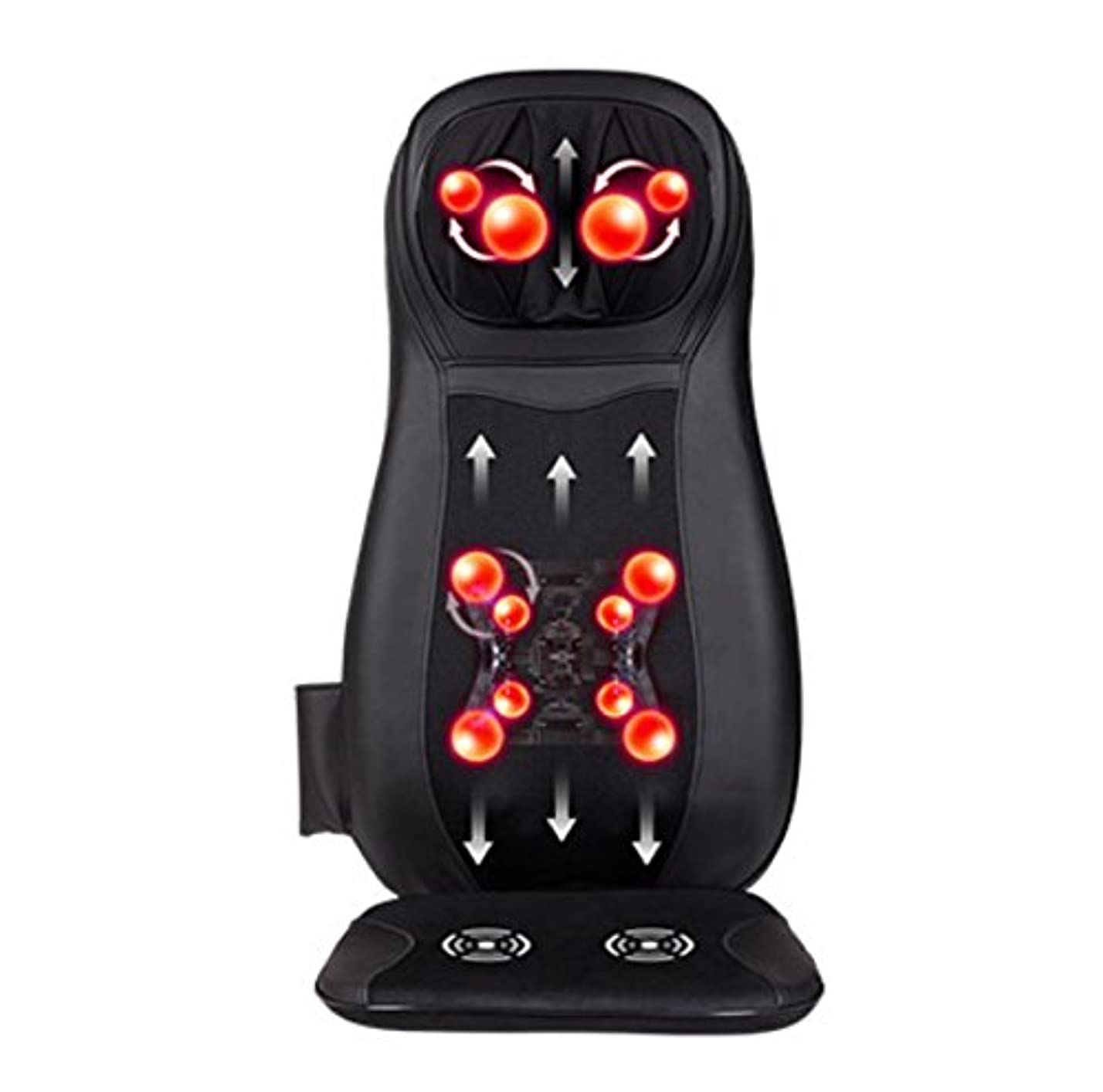 全身用の電気クッションマッサージ器、多機能4 in 1 12V 48Wユニバーサルカーと家庭用ダブルシースと洗濯可能