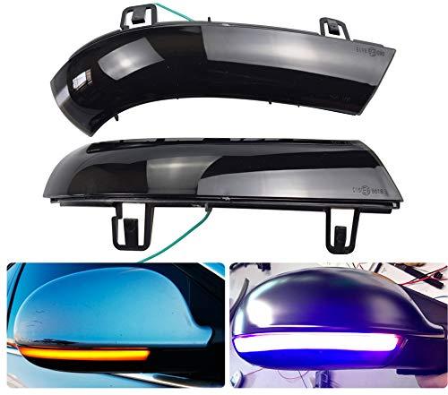 2 x LED Blinker Spiegelblinker Blinkleuchte Dynamische Laufblinker Seitenblinker MK5 Golf 5 6 GTI B5.5 B6 Superb Sharan (Blau-Gelb)
