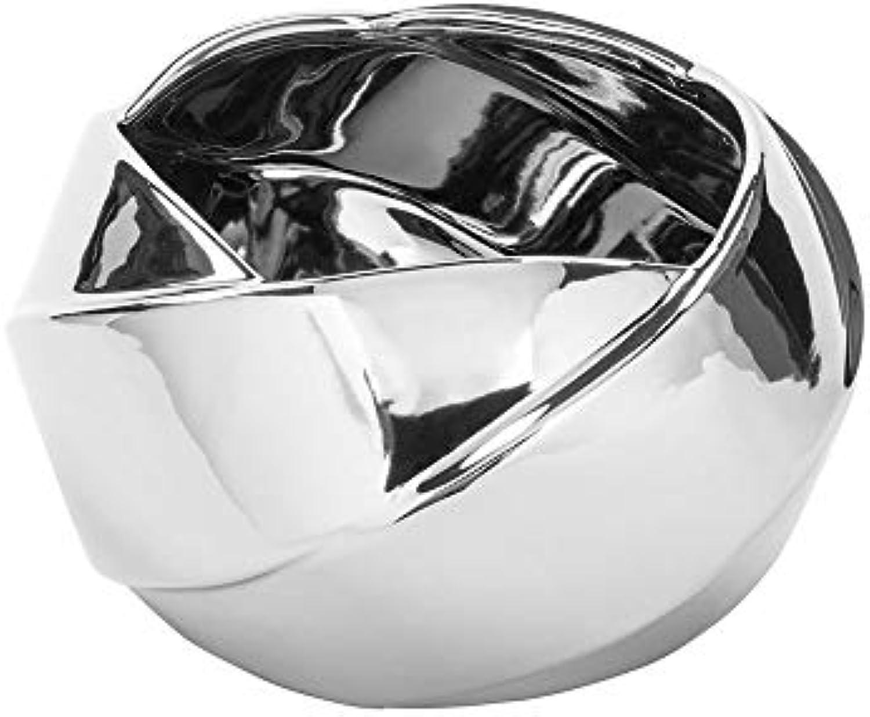 Fink - FEDRA - übertopf, Blaumentopf - Keramik - Silber - 23 x H13 cm