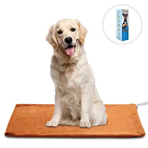 MARUNDA Pet Heating Pad ,Cat Dog Heating Pad Indoor Waterproof,Auto Constant Temperature Warming 12x15 inches Bed with Chew Resistant Steel Cord