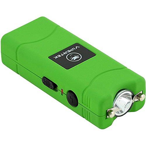 VIPERTEK VTS-881 - 35 Billion Micro Stun Gun - Rechargeable with LED Flashlight, Green