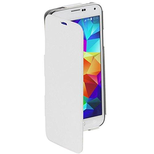 Vivanco Buch Klapp, Book Cover, Hülle, Schutz Hülle extra dünn, ultra slim für Samsung Galaxy S5