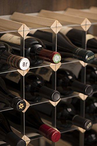 RTA 15 Bottle Traditional Wine Rack-Kit-Natural Pine (FSC)