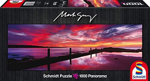 Schmidt Spiele 59290 - Mark Gray, Panoramapuzzle, Eden Sea Baths, New South Wales, Australia, 1000 Teile