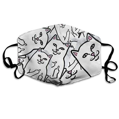 QYGA-3BU Mundhauben für Sturmhauben Viele niedliche Kätzchen bedrucken Sturmhauben für Sturmhauben - Atmungsaktiv Einstellbar Winddicht Mundhauben, Camping Running