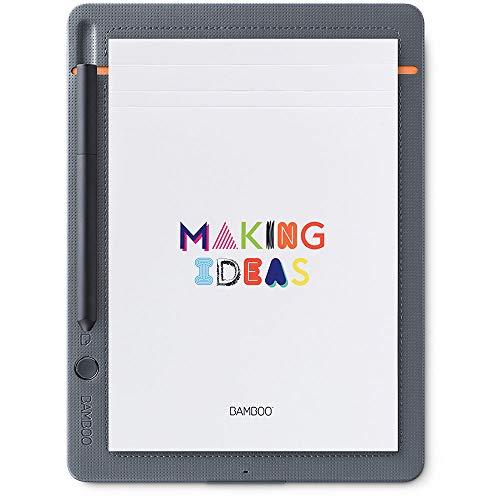WACOM Bamboo Slate A5 Smartpad / Digitalizzatore di Appunti e Disegni su Carta, Grigio Chiaro / Compatibile con Smartphone e Tablet Android, iOS e Windows