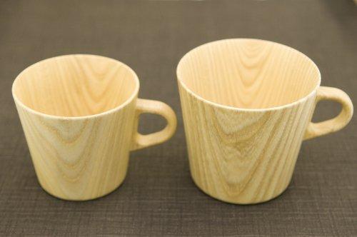 ≪木のやさしい口当たりが印象的です≫紙のように薄く、丈夫な Kami Glass マグ レーザー*但しSサイズのみ底面可能 S