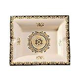 TOPBATHY Cenicero cuadrado de cerámica, diseño retro para cigarrillos, cenicero, soporte para el hogar, oficina, decoración de mesa
