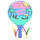 BESPORTBLE 1 Set Raquette de Plage Raquette de Bois Raquette de Badminton pour Enfants