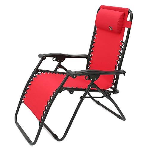ZLININ Pequeño sillón reclinable plegable silla almuerzo silla para niños Siesta silla de oficina plegable rojo