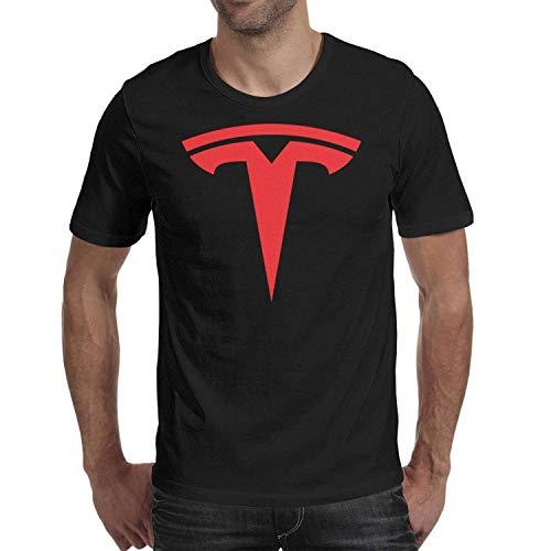 Heart Wolf Tesla- Shirt Black Mens O-Neck Short Sleeve Cotton T-Shirts T Shirts