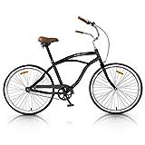 Vip4Vip - Bicicletta da passeggio, telaio da 20 pollici, in acciaio, cerchione e freno in lega, manubrio in acciaio