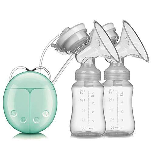 LMEIL Doppio tiralatte Elettrico Portatile, Intelligente BPA-Free USB e Leggero Massaggio Automatico Dopo Il Parto con Pompa per Il Seno, flacone di stoccaggio del Latte da 150 ml