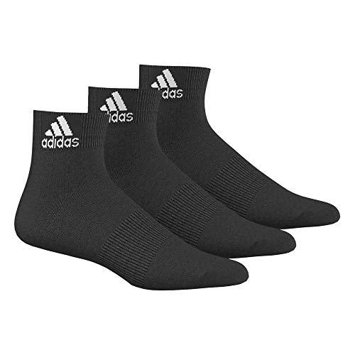 Adidas Performance 3 Paires Socquettes Fines Mixte Enfant, Noir et Blanc, Taille : 19-22