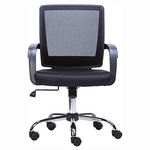 ZLFLD Bürostuhl Bürostuhl, Fels-ff ist EIN Schreibtisch for den menschlichen Maschinenbau, die die Drehung des Netto-Bürostuhl regulieren Chef Stuhl (Color : Black)