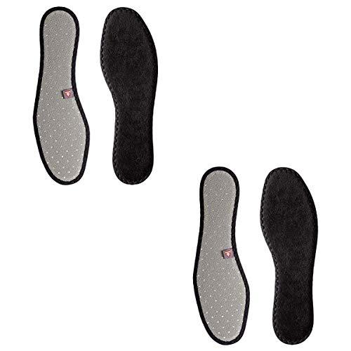 BERGAL 2 Paar Thermo Soft wärmende Winter Schuh-Einlage, Einlegesohle mit High-Tech-Funktionsfaser Primaloft®, Schuhgröße:42 EU