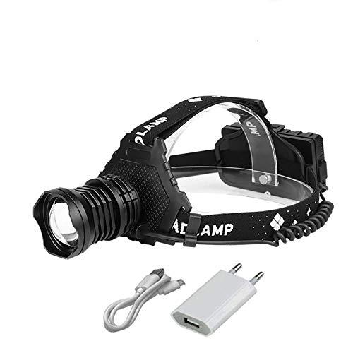 Stirnlampe 300000 LM XHP90.2 LED Scheinwerfer XHP90 High Power LED Kopflampe Kopflampe Kopflampe USB wiederaufladbar Scheinwerfer Wasserdicht Angelleuchte Stirnlampe Xhp90.2b