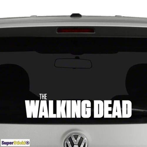 SUPERSTICKI Walking Dead ca.20cm Aufkleber,Autoaufkleber,Sticker,Decal,Wandtattoo, aus Hochleistungsfolie,UV&waschanlagenfest,