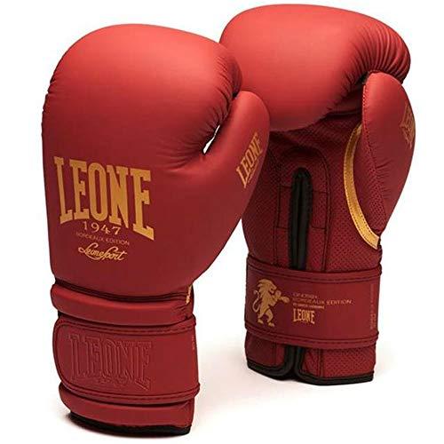 Leone Boxhandschuhe, Bordeaux Edition, rot Größe 10 Oz