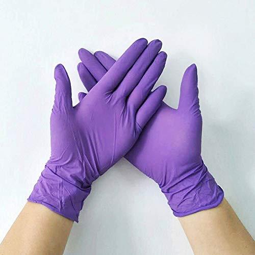 LWGOGM 20pcs / Lot Guanti in Lattice Monouso Pulizia Alimentari Guanti, Universale della Casa Giardino di Pulizia Guanti Robusti, Pulizia della Casa Rubber Glove (Color : Purple 20pcs, Size : L)