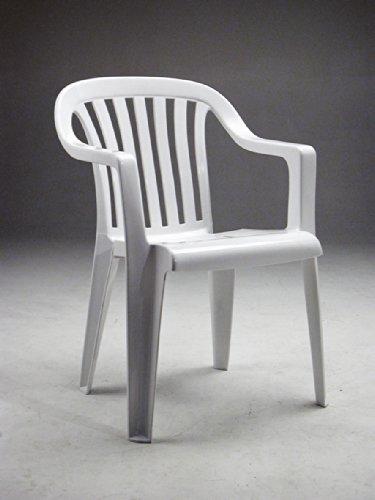 NARDI - Sedia da giardino bianca in resina LUNAB L57h81p57cm