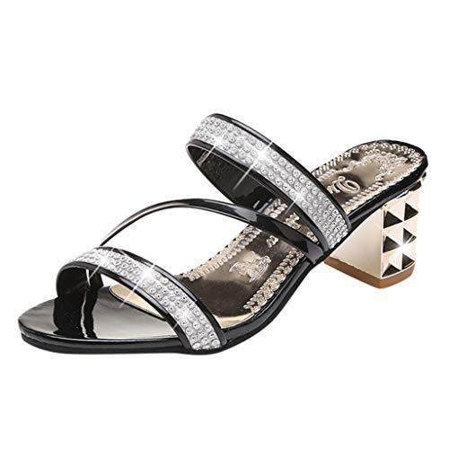 AIni Sandalias Mujer Tacon Cuadrado Zapatos Casuales De Moda Zapatos De Vestir...