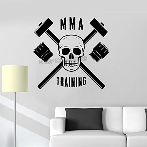 Adhesivo de metacrilato de metilo Adhesivo de Pared Artes Marciales Club de Lucha Deportes Adhesivo de Pared Tienda Gimnasio Decoración de Interiores Arte móvil Mural 56x59cm