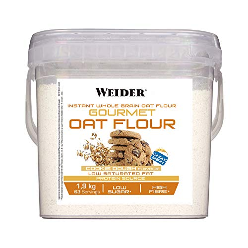 Weider Oat Gourmet. Wholemeal Oatmeal. Protein Source with Low Sugar Content. Cookie Dough Flavor (1.9 kg)